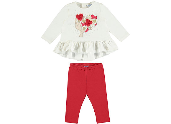 2722 Mayoral Red Bear Outfit