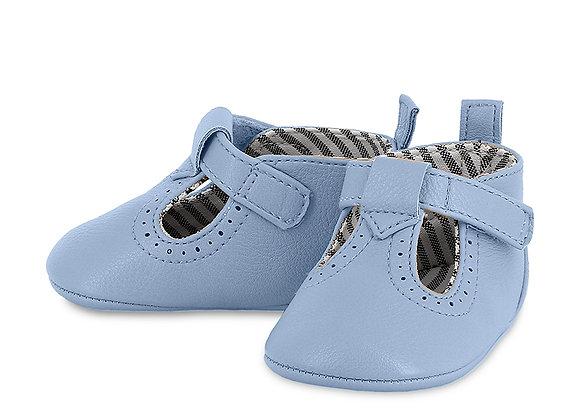 9392 Blue Pram Shoes