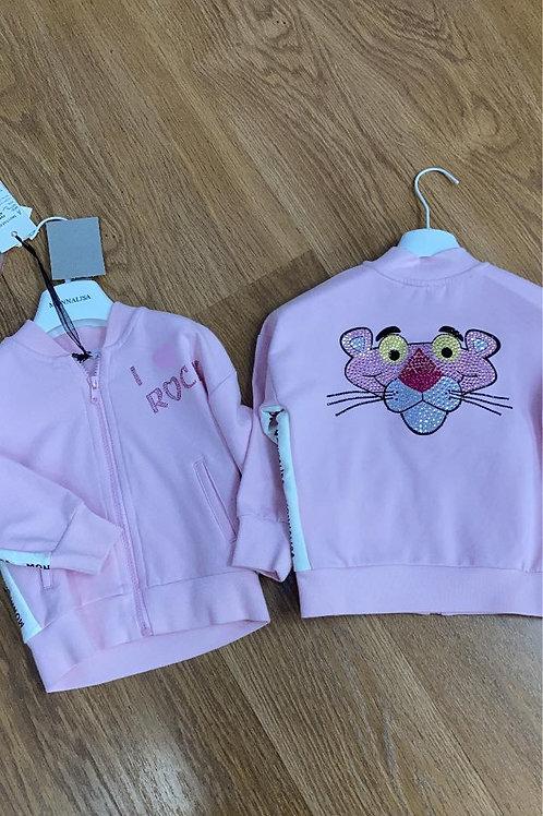 Monnalisa Zip-up Sweater