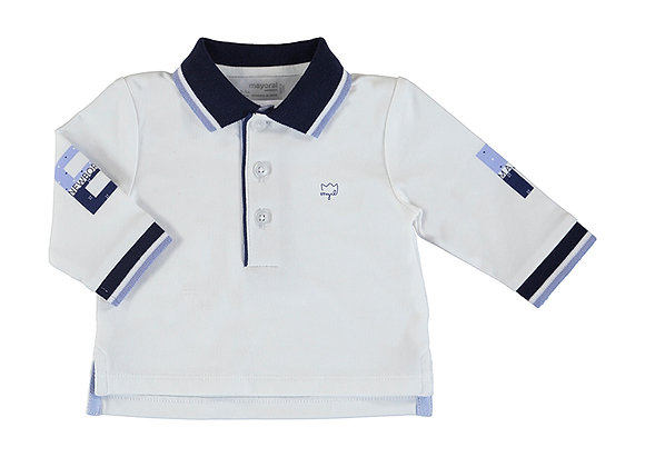 1171 Mayoral White Polo Shirt