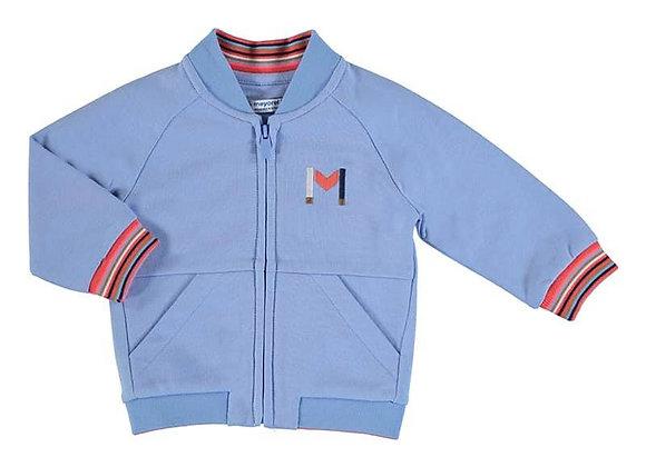 1407 Blue Zip-Up Sweater