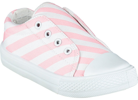 A.Dee Pink Check Canvas Trainer