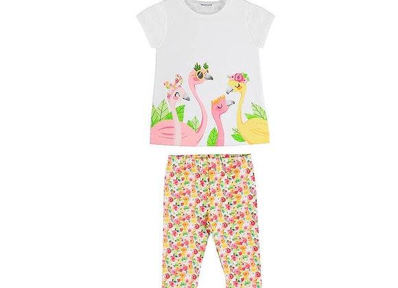 3741 Flamingo Legging Set