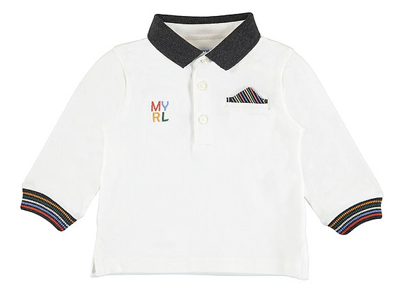 2143 Mayoral Cream Poloshirt