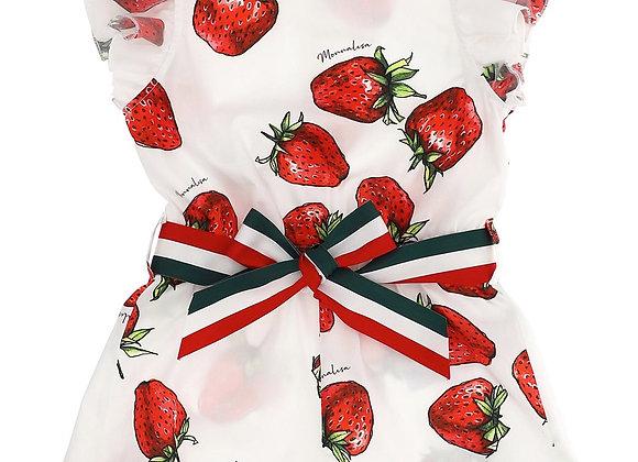 Monnalisa Strawberry Playsuit