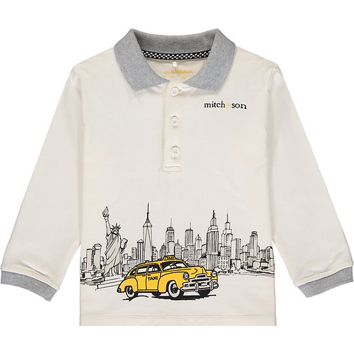 Mitch & Son Ivory Polo Top