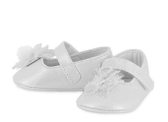 9403 Mayoral White Pram Shoes