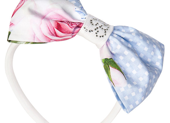 Balloon Chic Blue Roses Hairband