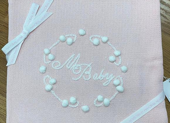 19825 Pink Knit Blanket