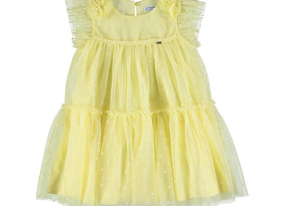 Mayoral Lemon Tulle Dress 3913