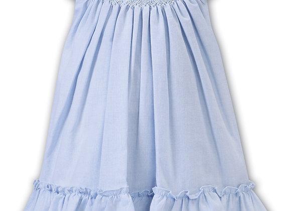 Sarah Louise Sleeveless Blue Smocked Dress
