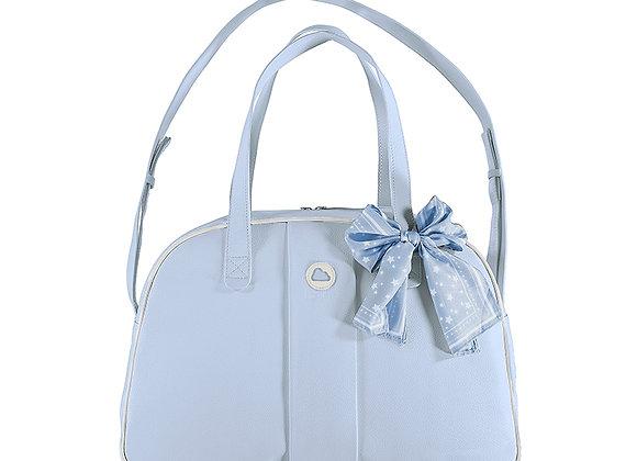 19896 Blue Pram Bag With Scarf