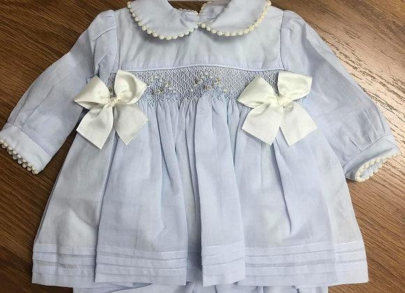 Pretty Originals Blue and Cream Dress