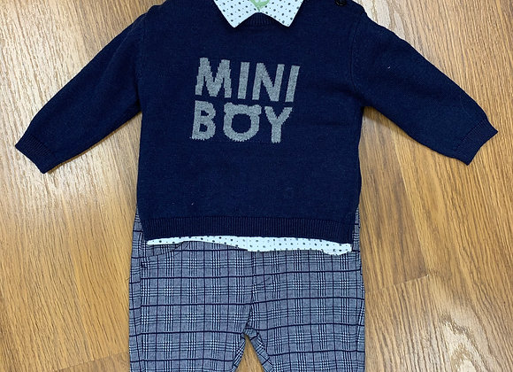 Ido Navy Check Outfit