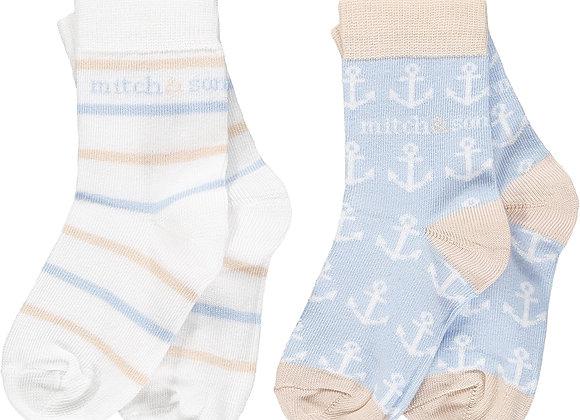 Mitch & Son 'Bank' Nautical Socks 2 Pack