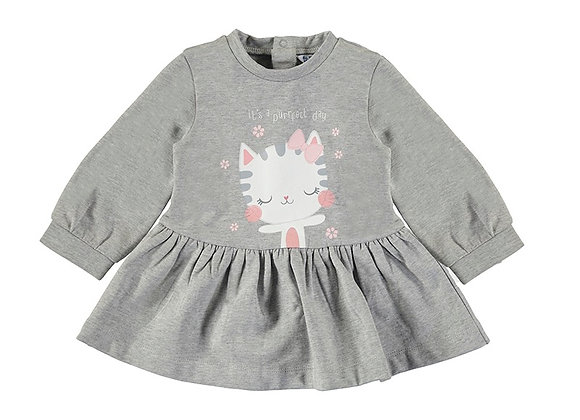 Mayoral Grey Cat Dress 2929