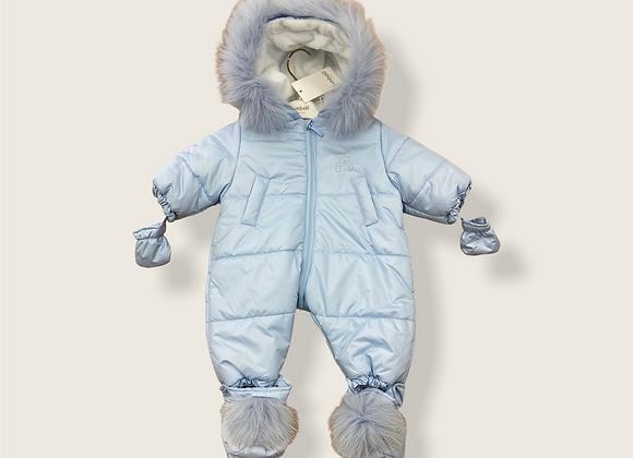 Bimbalo Pale Blue Snowsuit Teddy