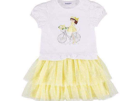 3916 Lemon Tulle Bottom Dress