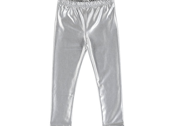 3731 Silver Metallic Leggings