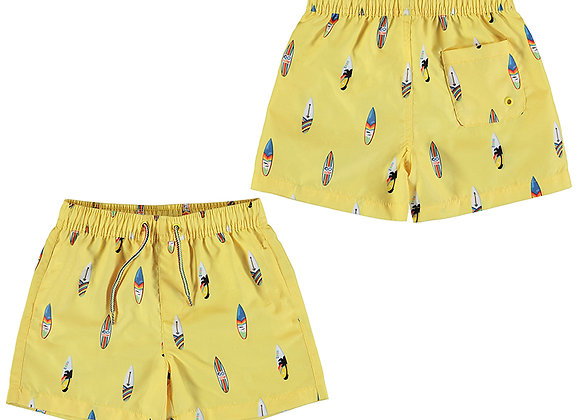 3648 Mayoral Yellow Surf Swim Shorts