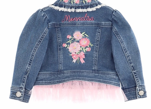 Monnalisa Bebe Denim Jacket