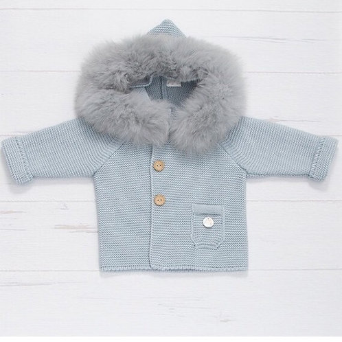 Pangasa Blue Knit Coat