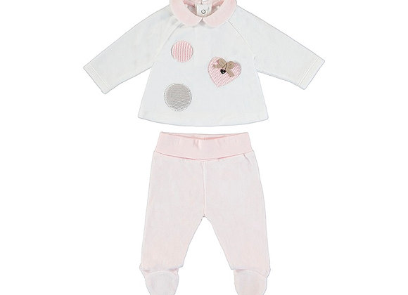 Mayoral Pink Velour 2Pce 2504