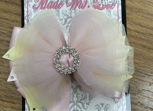 Large Pink and Yellow Bow