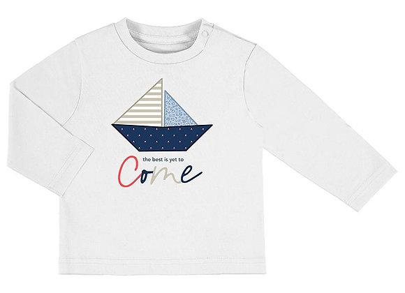 1017 White Boat Long Sleeve T-Shirt