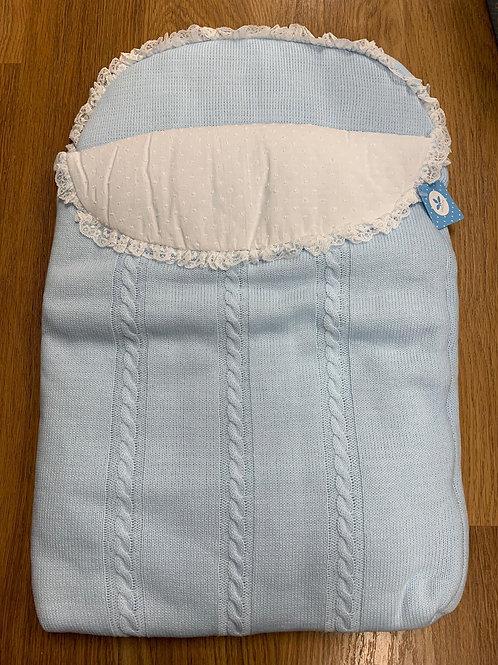 Sardon Blue Knit Baby Nest