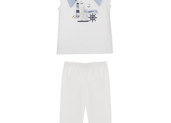 Patachou Nautical Two-Piece Outfit