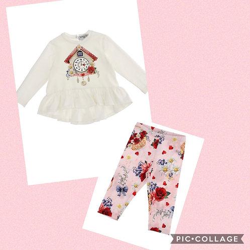Monnalisa Bebe Floral Outfit
