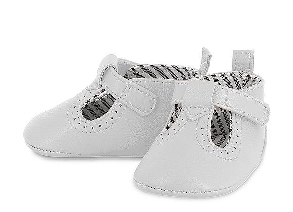 9392 White Pram Shoes