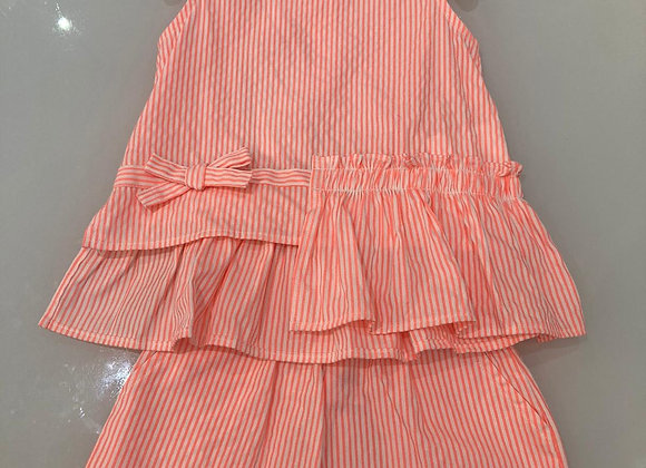 Ido Coral Striped Short Outfit