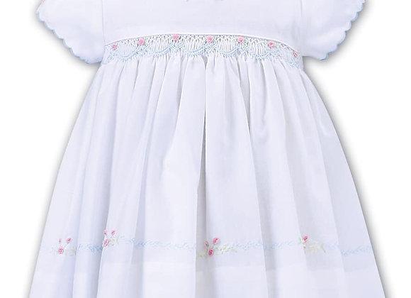Sarah Louise White Pastel Dress