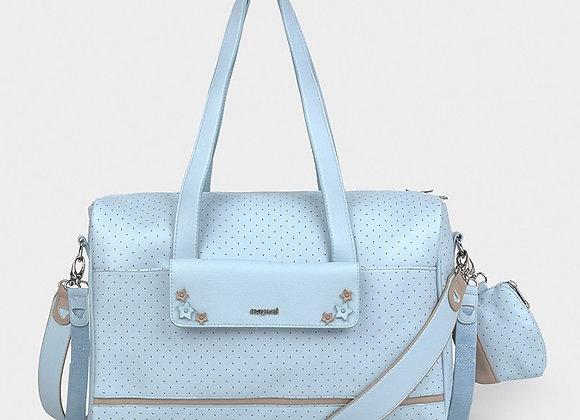 Mayoral Pram Bag Blue Polka Dots