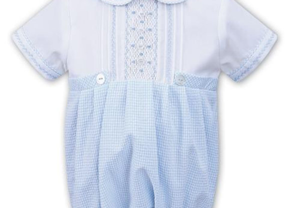 Sarah Louise Checked Romper