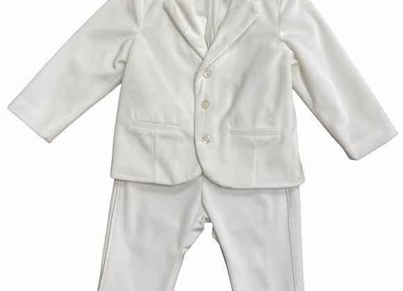 Mayoral Ivory Velveteen Suit