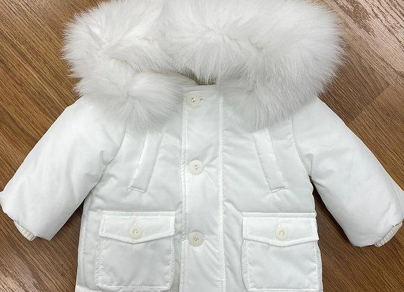 Bimbalo Ivory Coat Ivory Fur