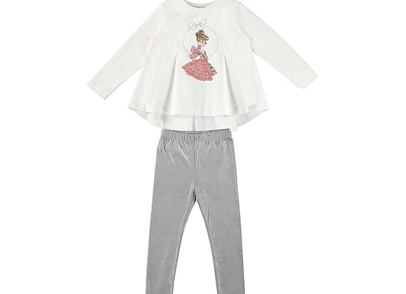 Mayoral Blush & Grey Outfit
