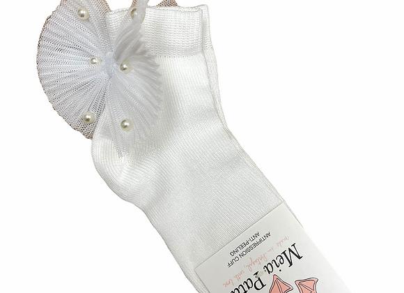 Meia Pata White Bow Socks