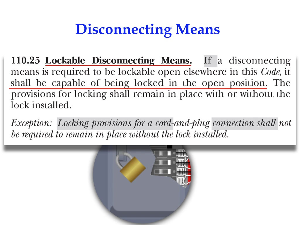 Disconnecting means