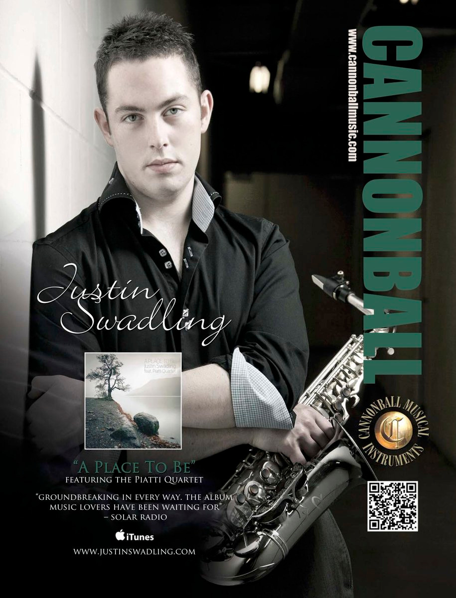 Downbeat Magazine, Cannonball Ad, Justin Swadling