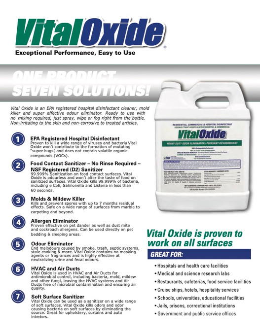 Vital Oxide's 7 Solutions