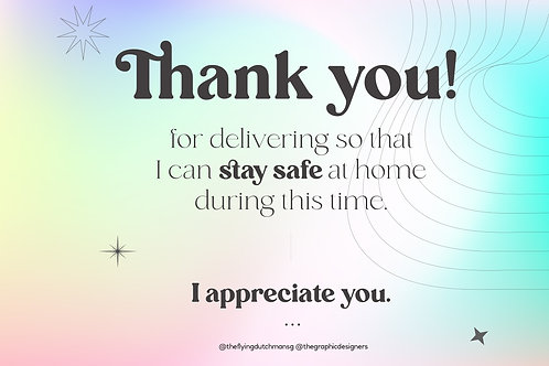 Thank You for Delivering (A)