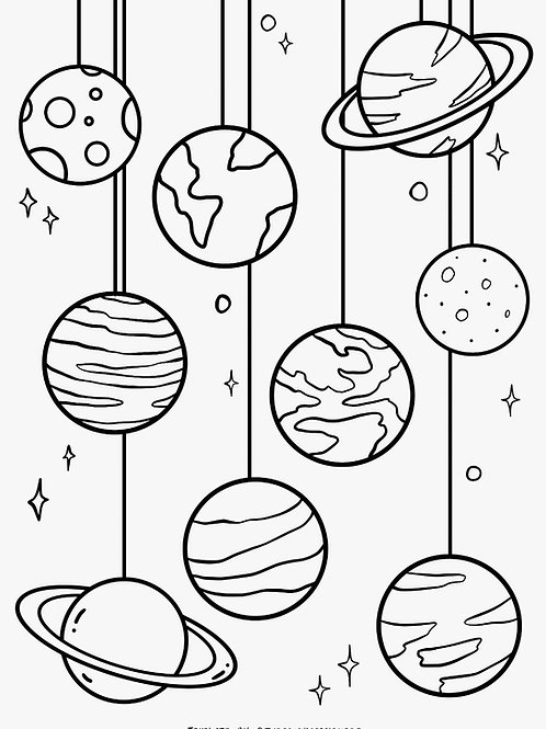 Colouring Page - Galaxy