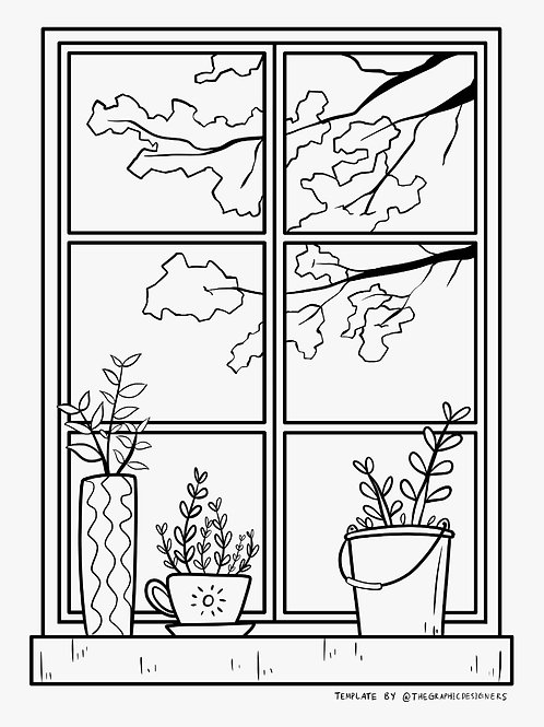Colouring Page - Window