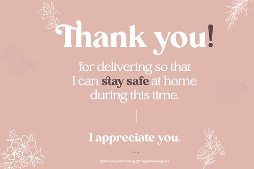 Thank You for Delivering (B)