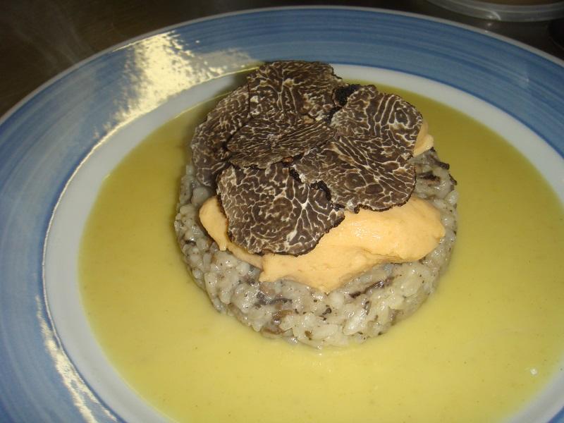 Truffe et risotto truffé