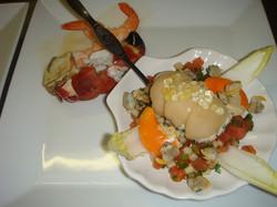Rillettes de crabe tourteau et quelques fruits de mer.JPG